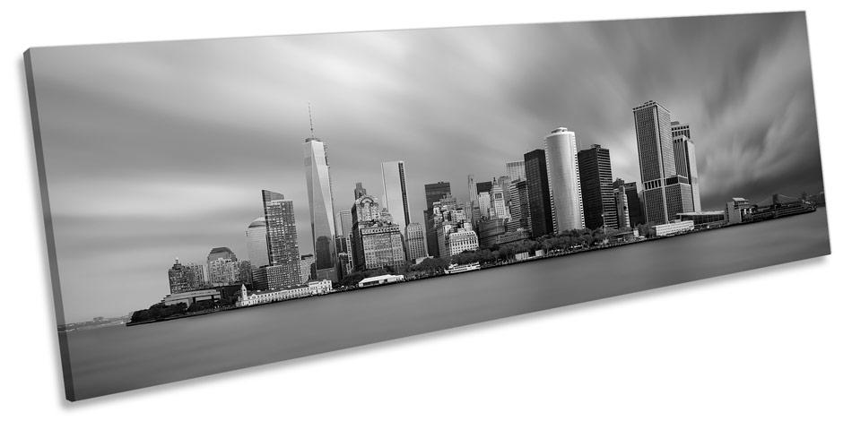 Manhattan Nueva York Panorama LONA pared arte enmarcado impresión