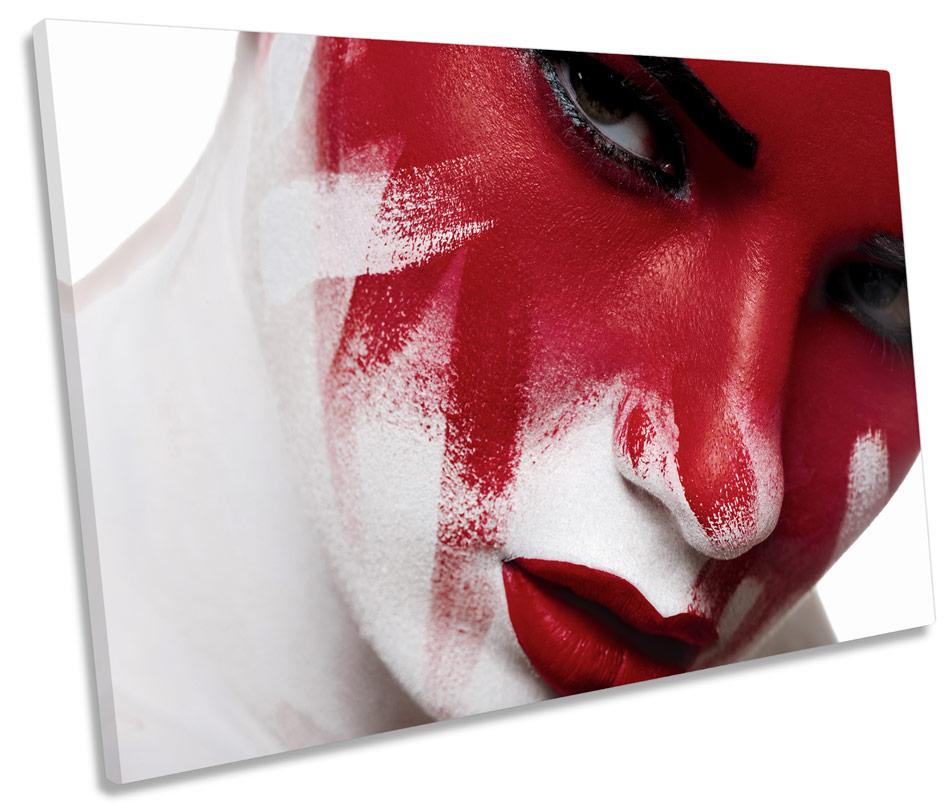 Fashion Lip Gloss Make Up TREBLE CANVAS WALL ART Box Framed Picture