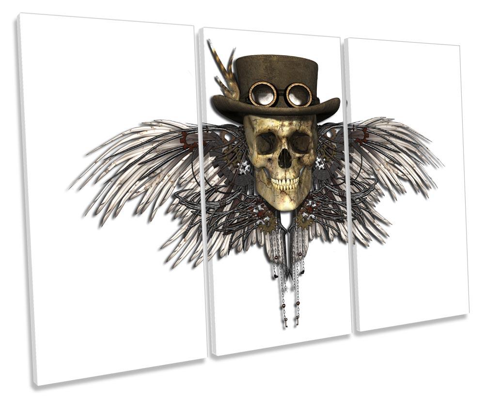 Steampunk Angel Wings Skull-TR32