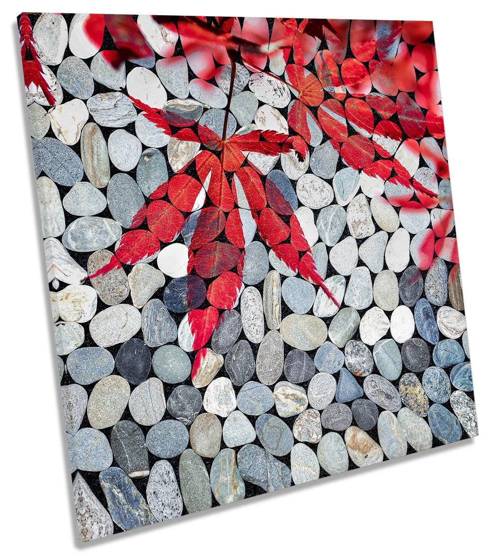 Bathroom Pebbles Red Leaves-SG11