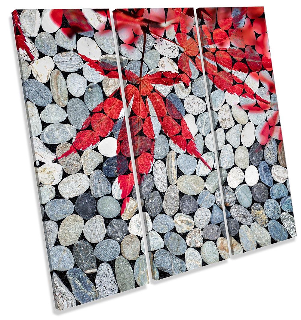 Bathroom Pebbles Red Leaves-TR11