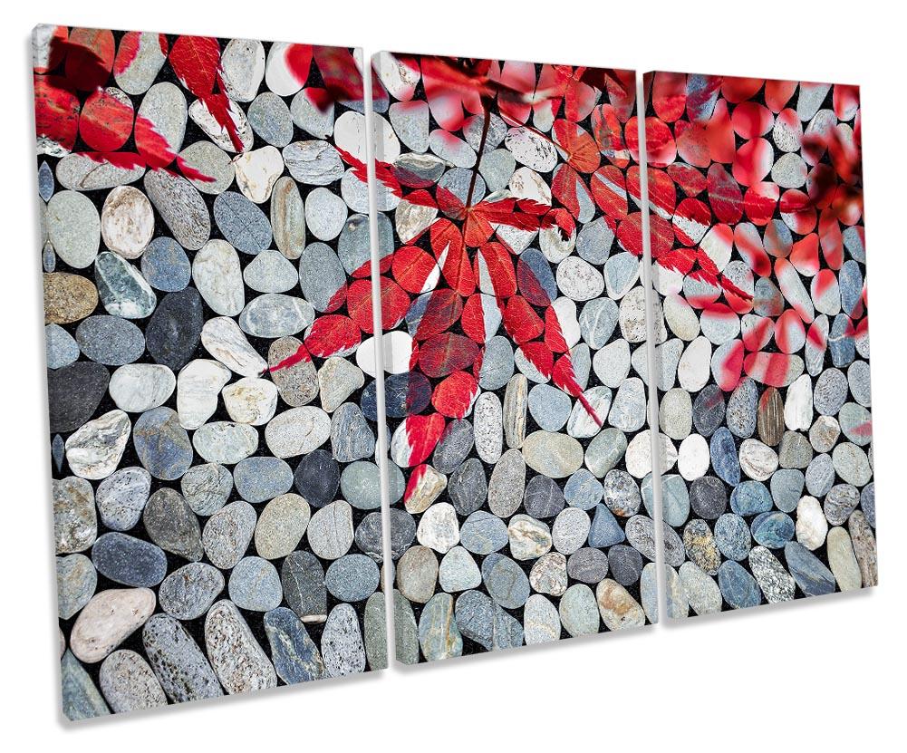 Bathroom Pebbles Red Leaves-TR32