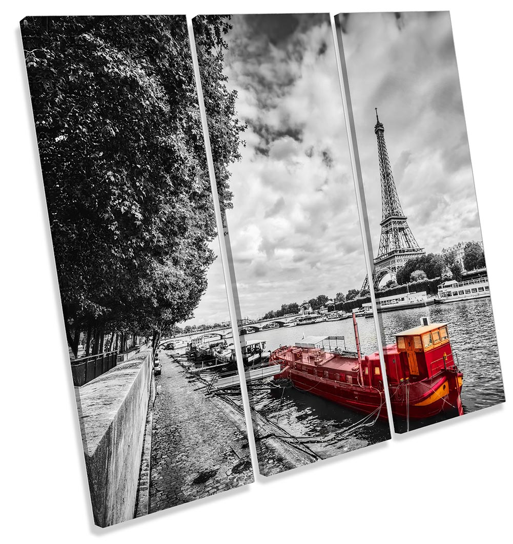 Eiffel Tower Red Boat-TR11