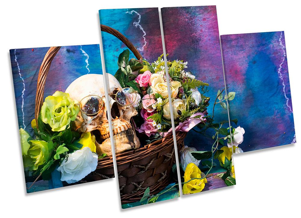 Skull Still Life Basket-MP17