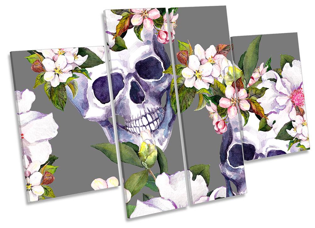 Skulls Floral Flowers-MP17
