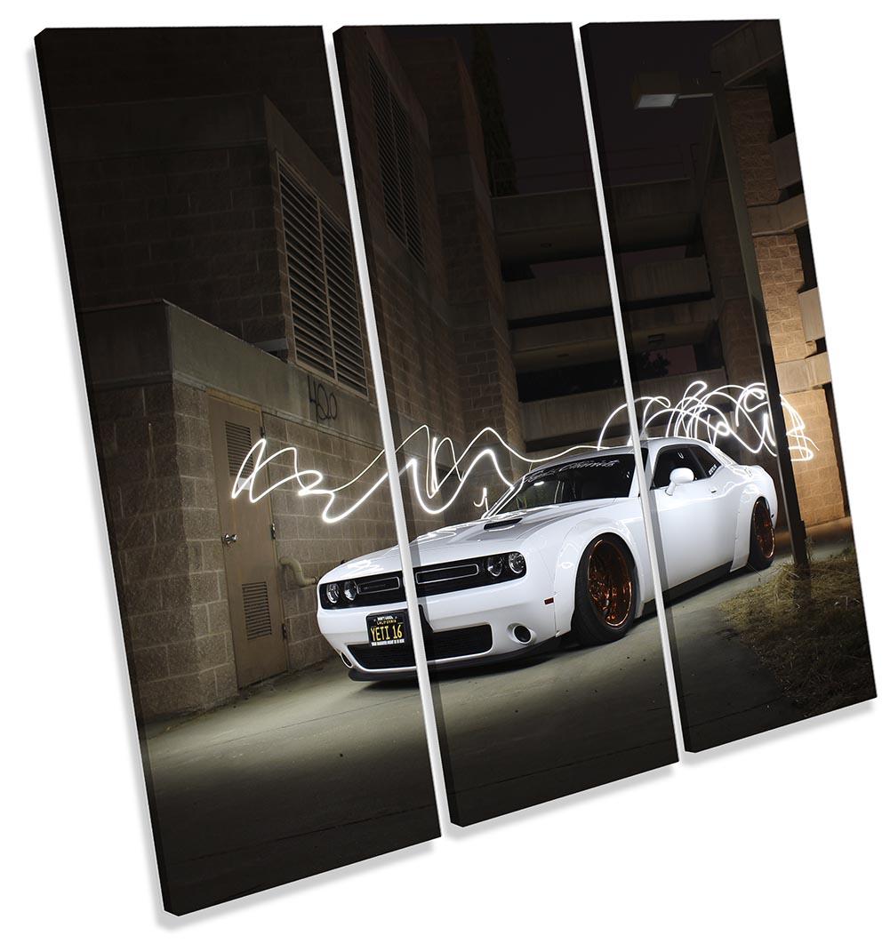 Dodge Challenge White Car-TR11
