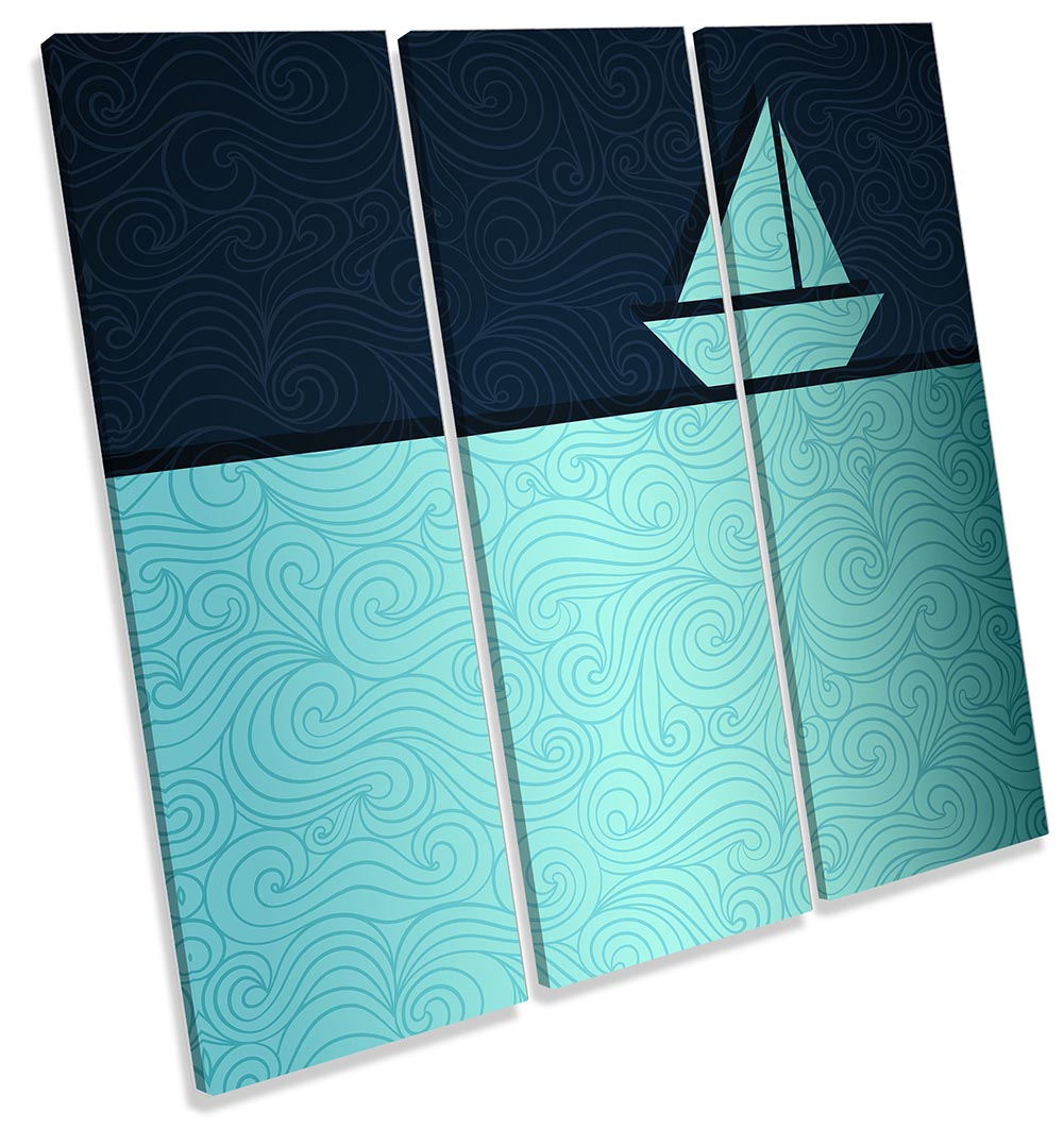 Sail Boat Yacht Abstract-TR11