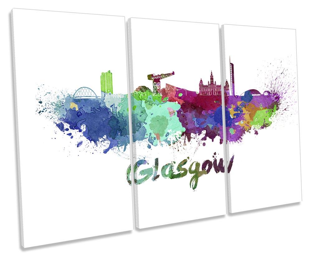 Glasgow Watercolour Skyline-TR32