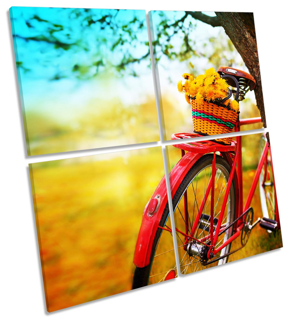 Autumn Sunset Red Bicycle-MP01