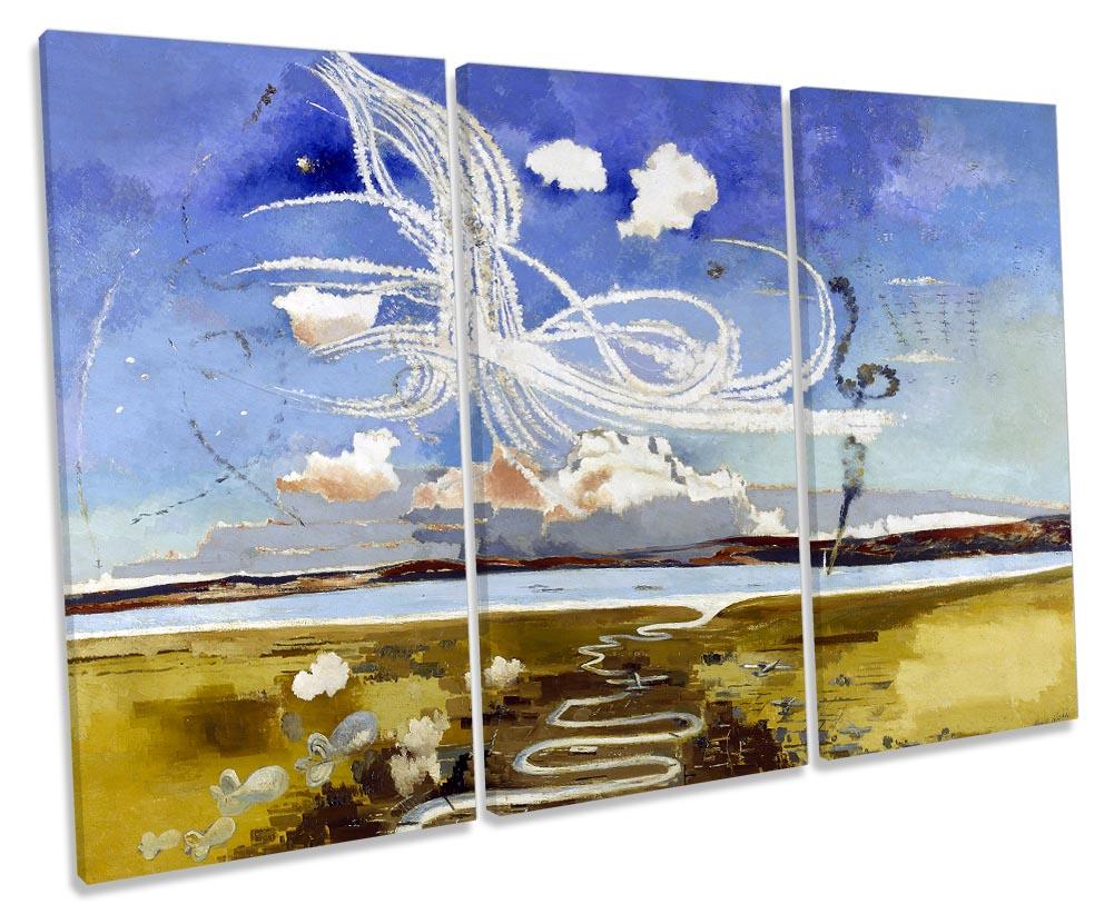 Paul Nash Battle Of Britain Canvas Wall Art Three Panel Ebay