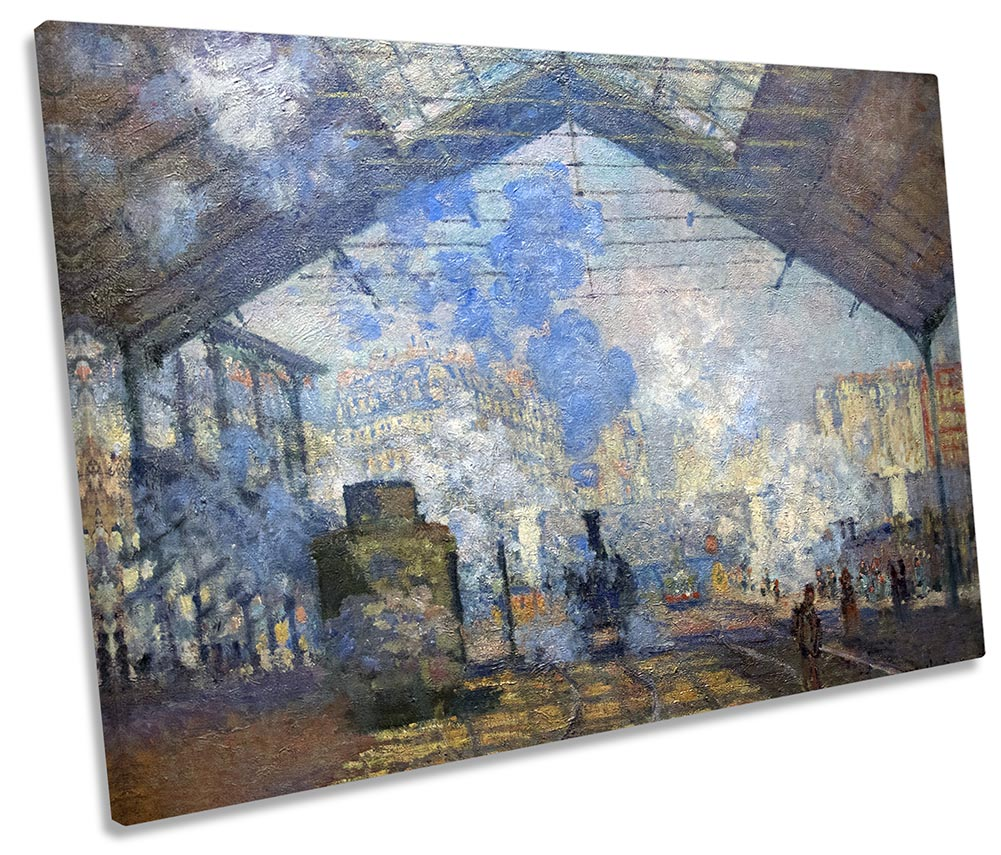Outside the station Saint-Lazare The signal by Monet Giclee Repro on Canvas